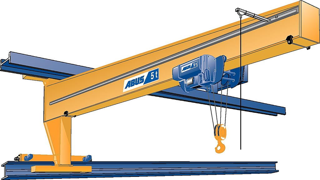 Single girder wall travelling crane